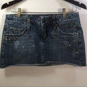 Forever 21 Distressed Embellished Skirt Size S
